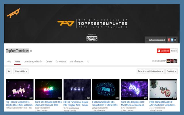 أربعة قنوات على اليوتوب لتحميل ما تشاءه من مقدمات احترافية لفيديوهاتك