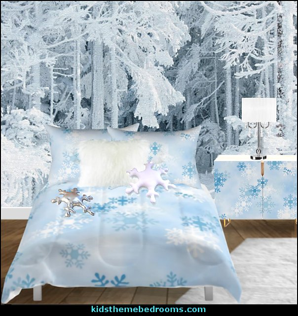 winter snow bedroom snowflake bedding winter mural winter bedroom decor  winter wonderland party ideas - Alaska - White Christmas