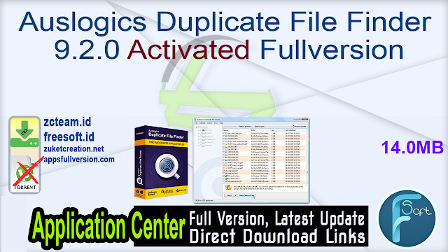 Auslogics Duplicate File Finder 9.2.0 Activated Fullversion