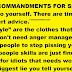 TWELVE COMMANDMENTS FOR SENIORS