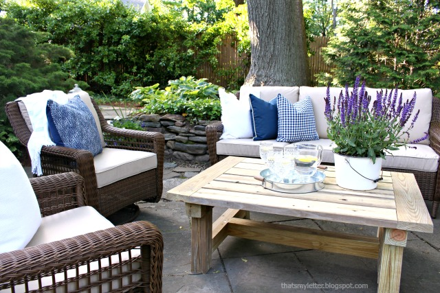 outdoor summer patio makeover