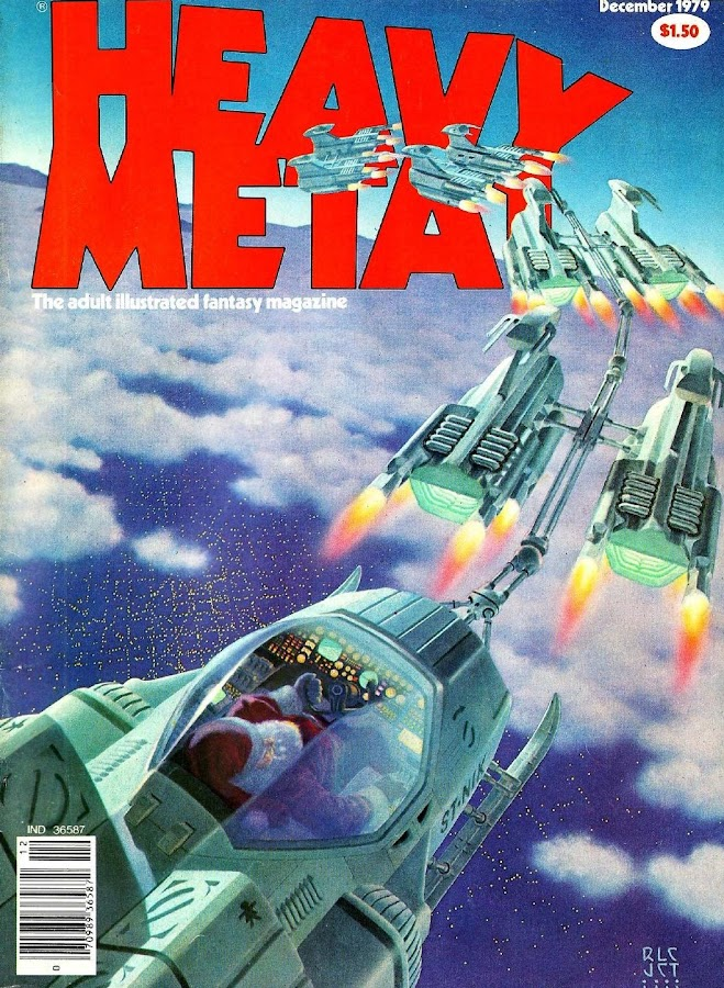 Heavy Metal, December 1979. Cover art by Richard Cohen and John Townley