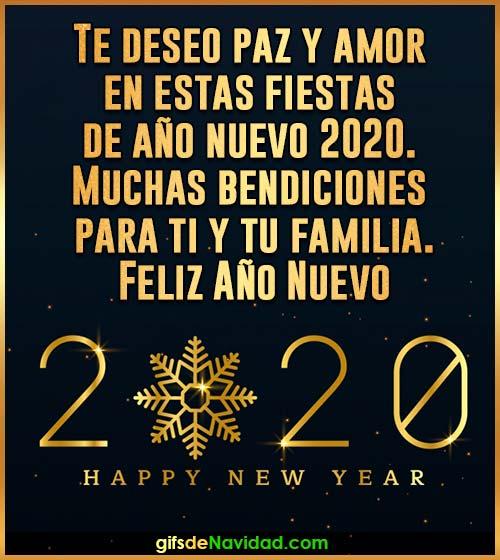 feliz año nuevo 2020 mensaje