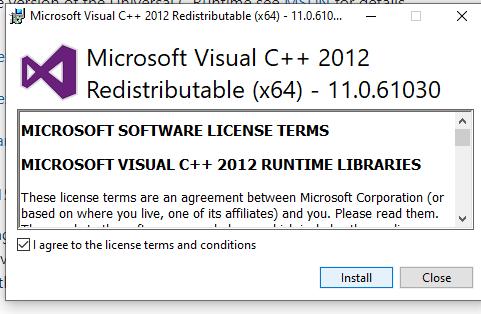 download visual c++ runtime redistribute