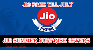 Jio Summer Surprise Offers