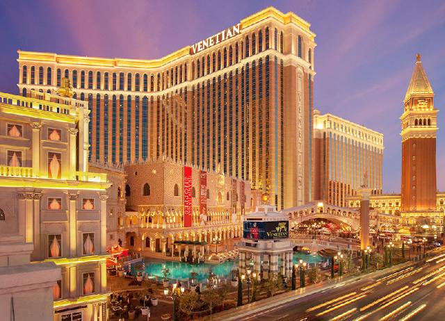 Atmosfera e arquitetura do Venetian em Las Vegas
