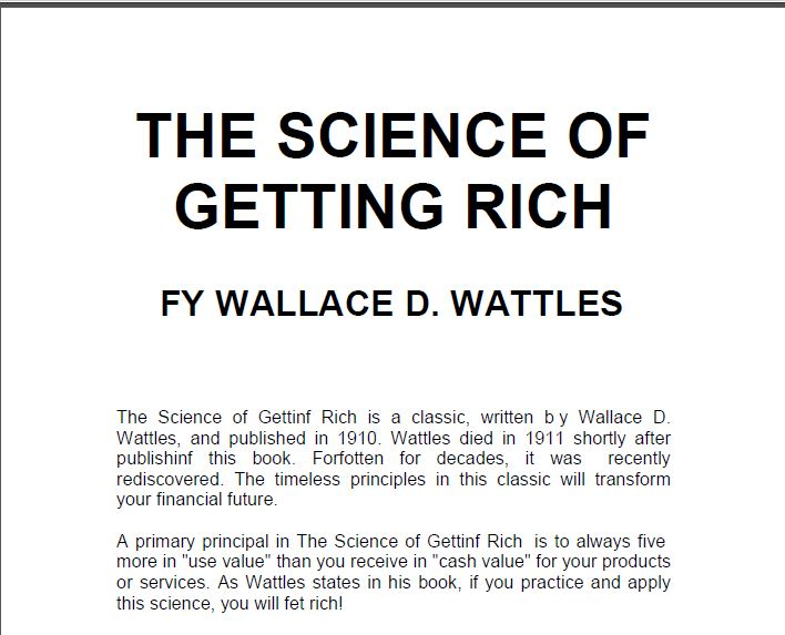The science of getting rich download pdf free