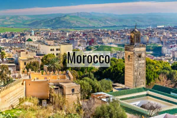 5 of the most famous touristic places in morocco