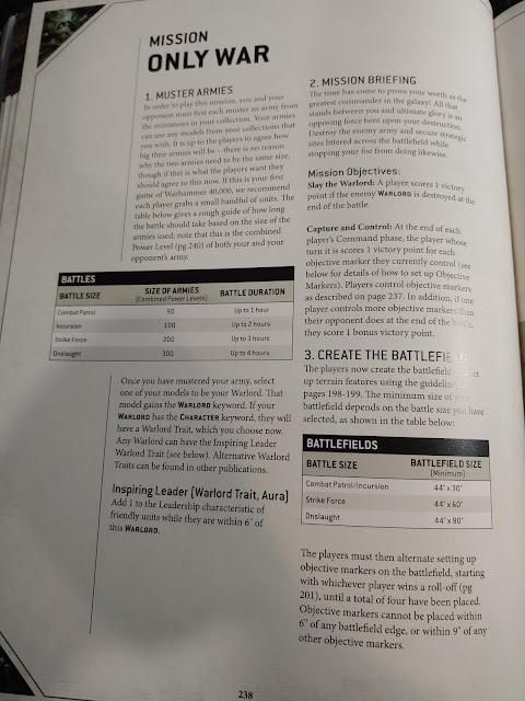 Misiones solo hay guerra inglés 9a Edición 40k