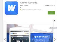 Cara Cepat Menghasilkan Uang dari Whaff Reward
