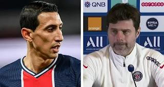 PSG boss Mauricio Pochettino confirms Angel Di Maria to miss first leg against Barcelona