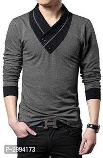 Stylish Cotton V Neck T-Shirt