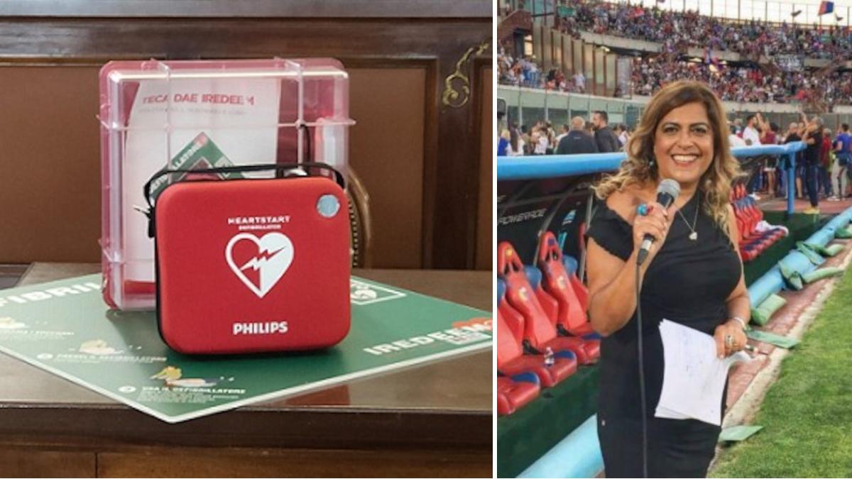 Calcio catania Stefania Sberna defibrillatore