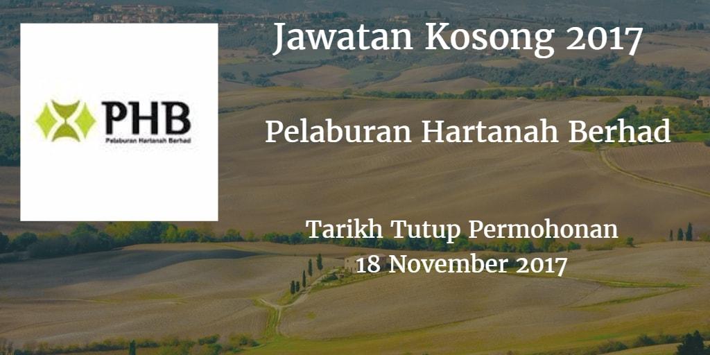 Jawatan Kosong Pelaburan Hartanah Berhad 18 November 2017