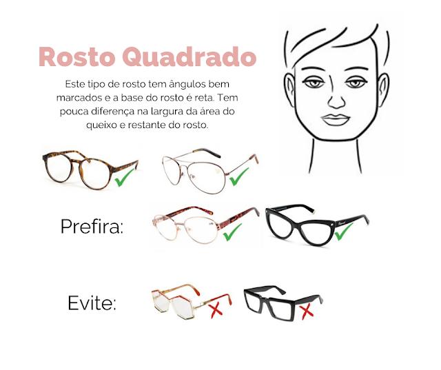 rosto quadrado, tipos de óculos, tipos de rosto