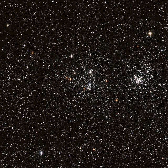 The Double Cluster - NGC 884 (left) and NGC 869 (right) - Imaged by Michael Petrasko on Insight Observatory's Astronomical Telescope for Educational Outreach (ATEO-1).