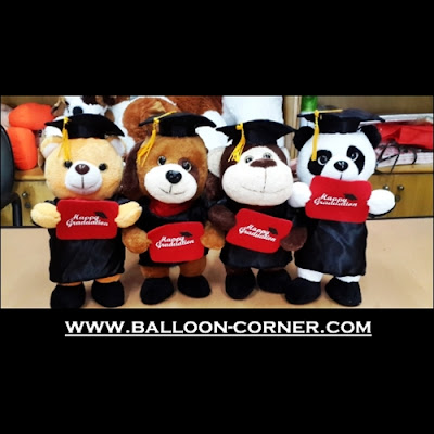 Boneka Happy Graduation / Boneka Wisuda (Ukuran 11 Inchi)