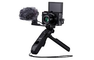 Canon Tripod Grip HG-100 TBR dengan kamera Canon PowerShot G7 X Mark III