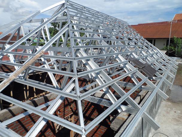 Pemasangan Atap Baja Ringan Balikpapan Distributor Supplier Rangka Produk