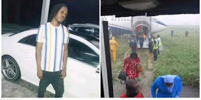 Naira Marley escapes death as Air Peace plane overshot its runway