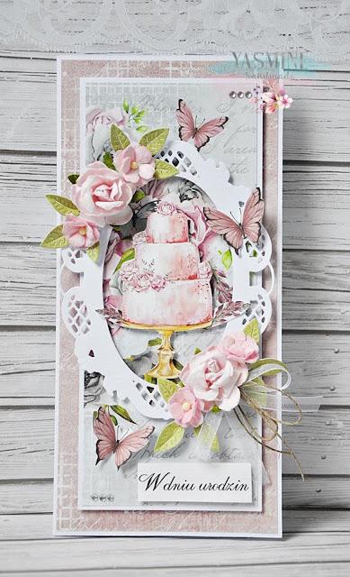urodzinowa kartka z tortem
