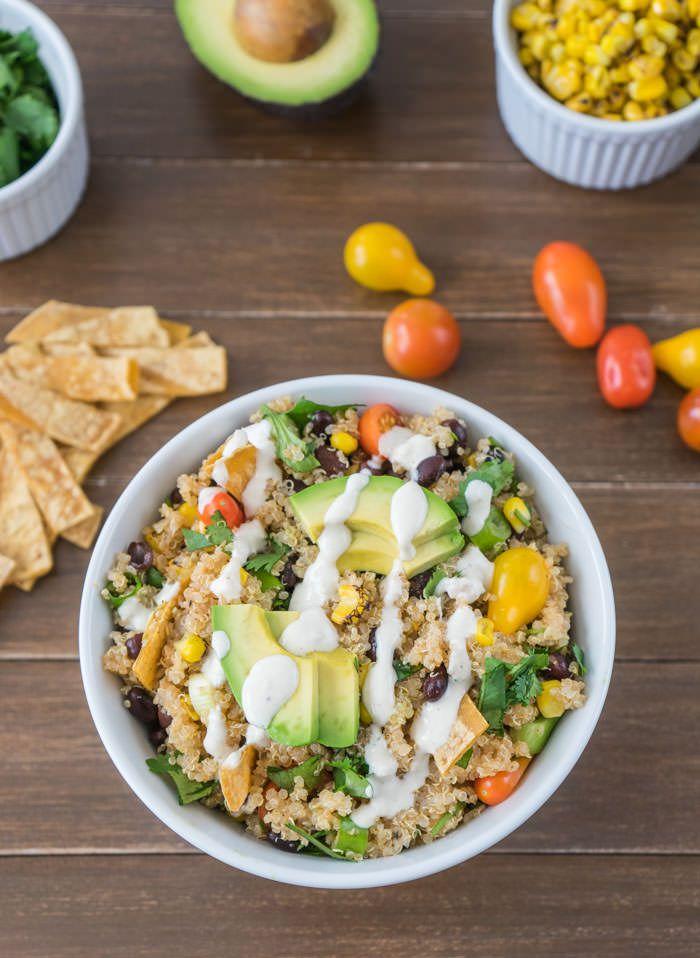 Quinoa Taco Salad #salad #healthydiet