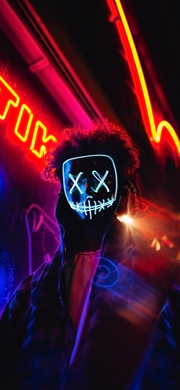 cool guy wearing x eyes mask wallpaper