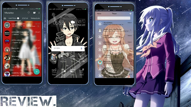 Download Theme Sword Art Online Dark untuk OPPO, Deva Project