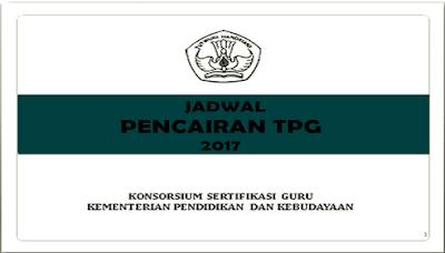 Jadwal Pencairan TPG Tahun 2017 Triwulan I, II, III Dan IV Terbaru