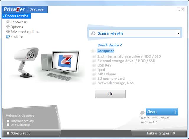 Screenshot PrivaZer 3.0.92 Donor Version