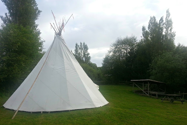 Tipi and Food Area at Roebeck