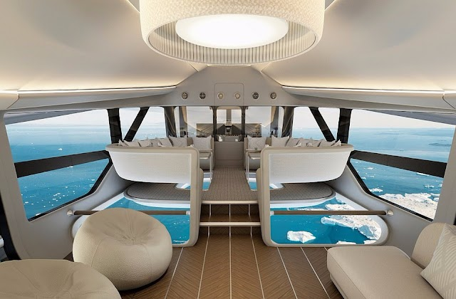 5-star flying hotel serving super-rich excursing Arctic