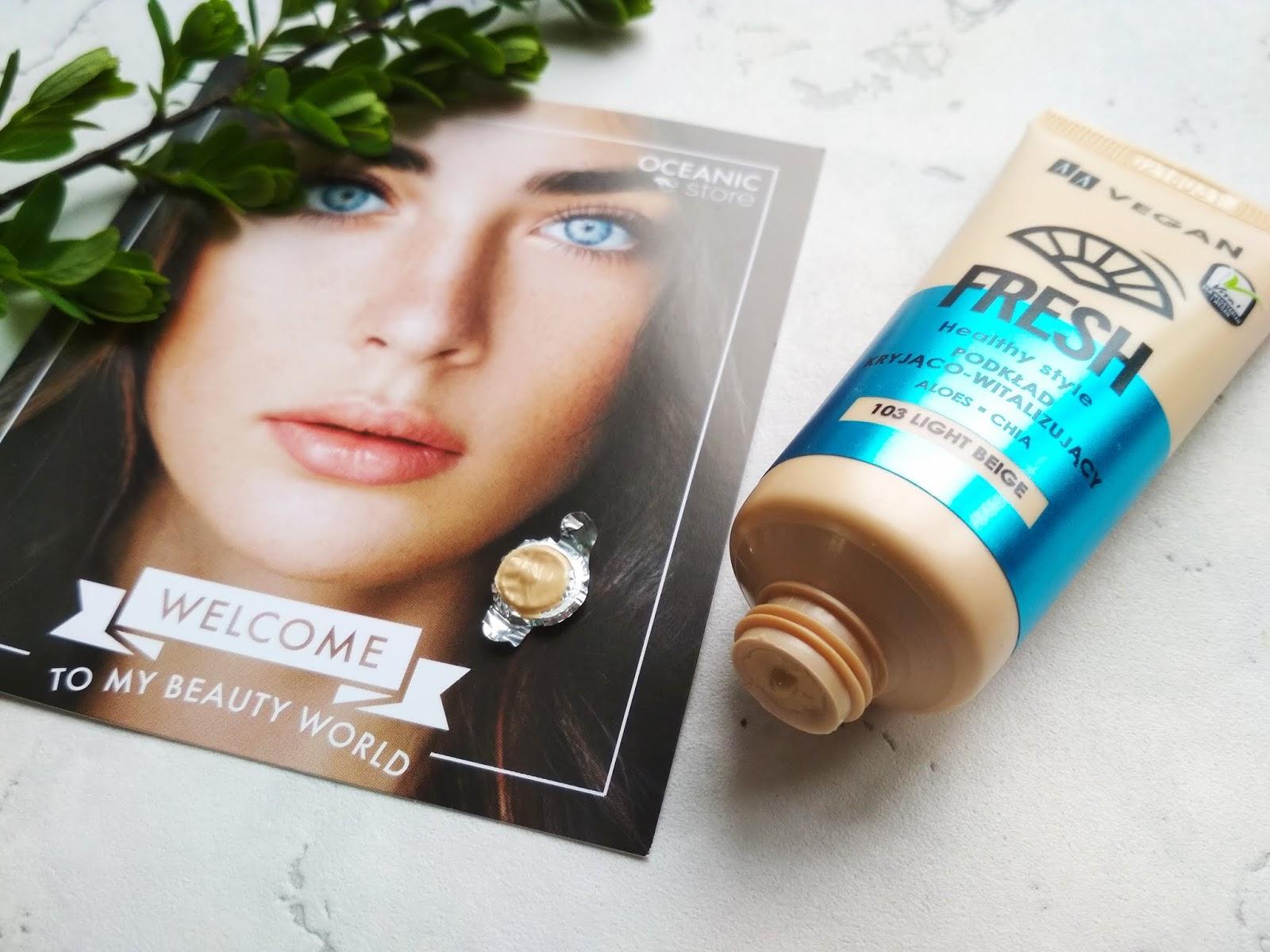 AA VEGAN FRESH Podkład kryjąco-rewitalizujący 103 LIGHT BEIGE, podkłąd, makijaż, testowanie, twoje źródło urody, kosmetyki aa, blog kosmetyczny, blog urodowy, blog trójmiasto, blog gdynia, najlepszy blog kosmetyczny