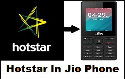 Hotstar on jio phone