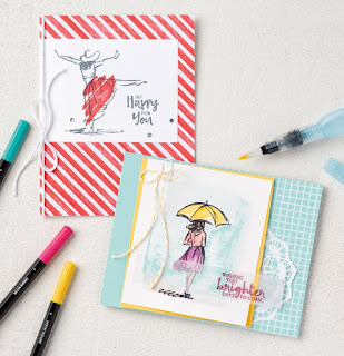 Stampin' Up! Beautiful You stamp set + Watercolor Pencils from 2017 Occasions Catalog #stampinup