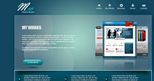 Create A Web Design Venice Blue Portfolio In Photoshop