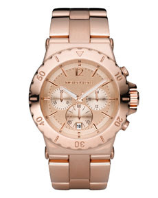 Michael Kors Rose Gold Watch With Swarovski Crystals