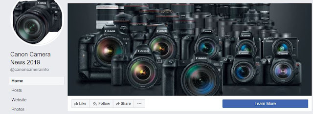 Visit / Like Canon Camera News 2019 Facebook Page