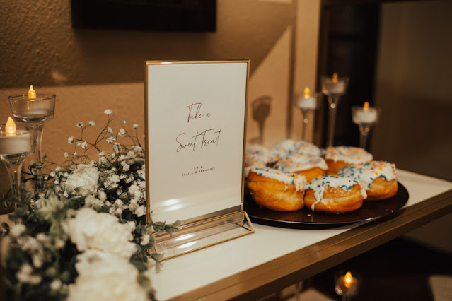 sweet treat donut sign and desserts