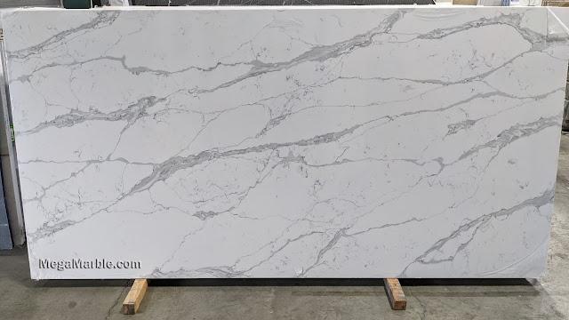 Quartz countertops that look like white marble - Mega 1