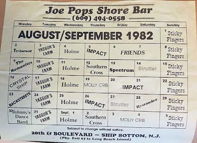 Joe Pop's Shore Bar 1982