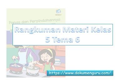 Rangkuman Materi K13 Kelas 5 SD Tema 6 Full