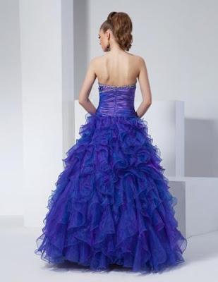 Vestidos de 15 Años Azules para quinceañeras