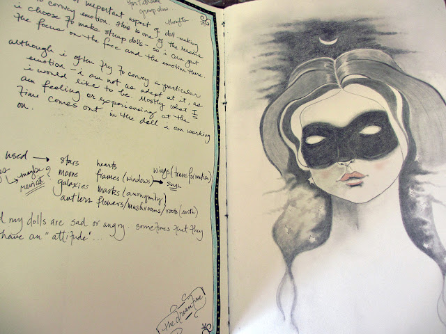 Amber Leilani, Sketchbook, sketchbook conversations, art dolls, creative process