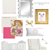 Baby Girl's Nursery Design Board