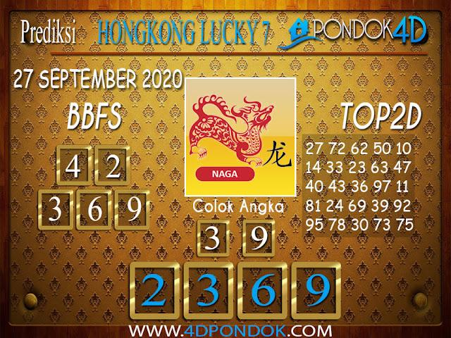 Prediksi Togel HONGKONG LUCKY 7 PONDOK4D 27 SEPTEMBER 2020