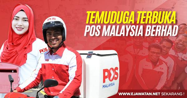 temuduga terbuka pos malaysia berhad 2020