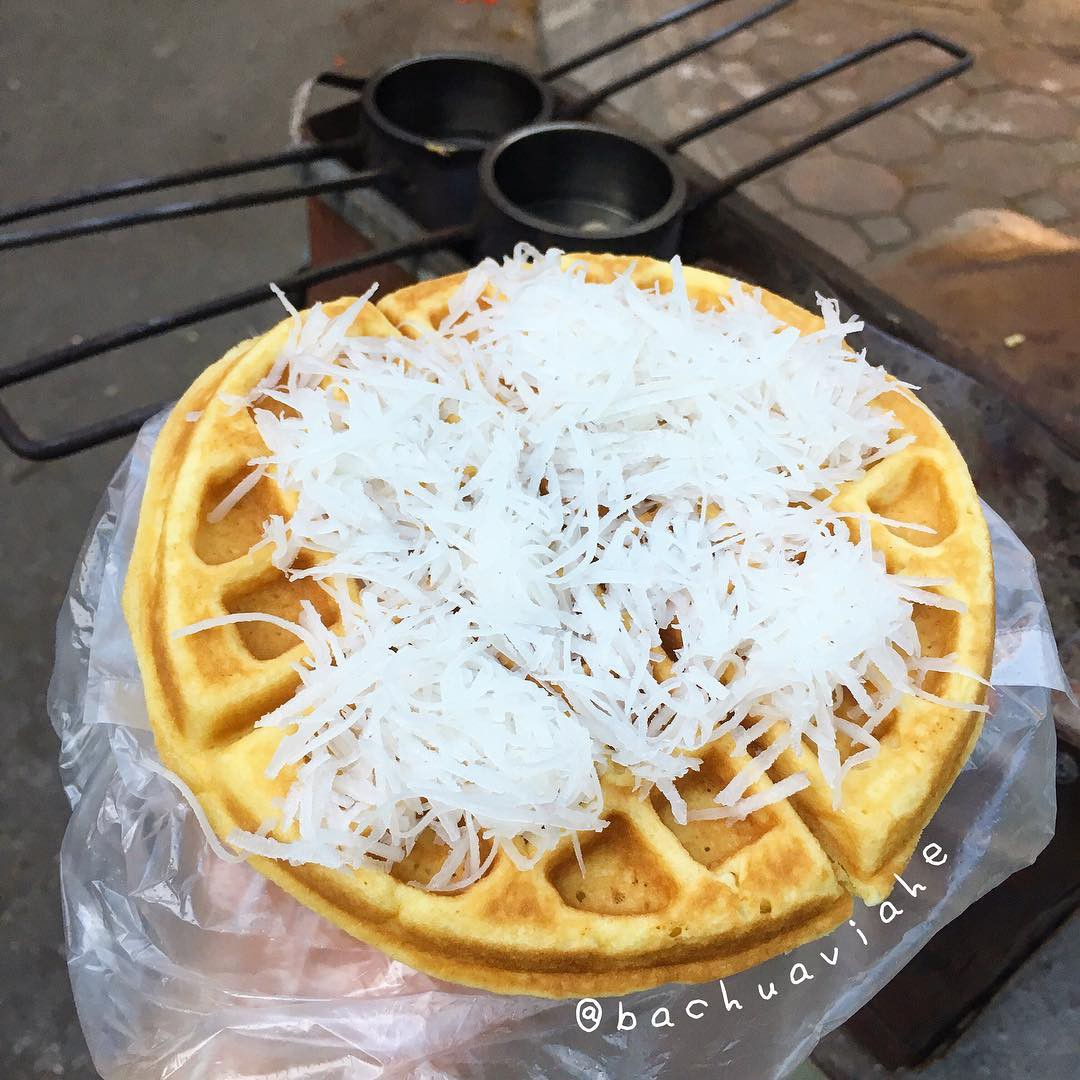 Bánh kẹp dừa mềm - quán ăn ngon gần đại học Bách Khoa - Kinh Tế - Xây Dựng