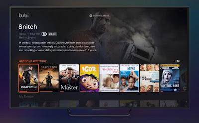 TubiTv, el Netflix de peliculas gratis, legales y sin subscripcion