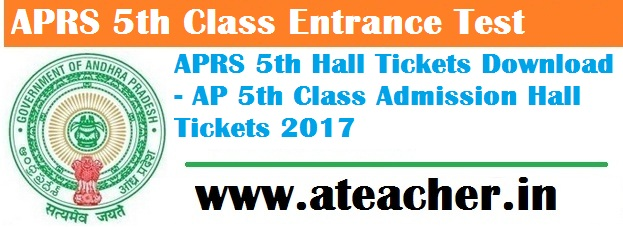 APRS 5th Class Entrance Test hall tickets